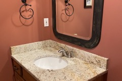 Colonial Cream powder room vanity top in Laplata, MD.