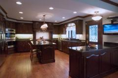 Granite countertops with island