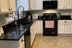 Absolute Black granite kitchen remodel in LaPlata, MD.