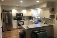 Fantasy Brown kitchen remodel in Lusby MD.