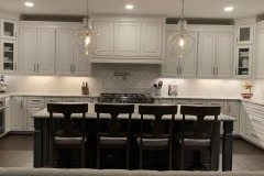 Fantasy Brown kitchen with huge island in Harwood, MD