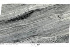 Stratus White Terra hard marble.