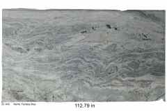 Fantasy Blue hard marble.  Waves of vibrant blue over light blue and variations of gray. This stone will look great in any kitchen or bathroom and compliments white and gray color schemes.  Low price range.