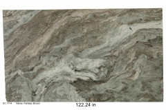Fantasy Brown hard marble.  Each lot is unique and has variations of green, white, brown, gray and sometimes blue.  Works with any color scheme. Would look great in a bathroom or kitchen. Low price range.